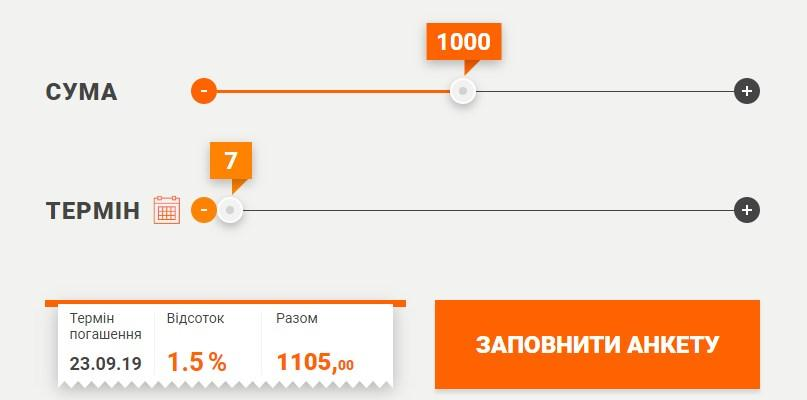 Займ в Украине