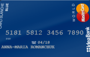 Оформить Card Blanche Blue