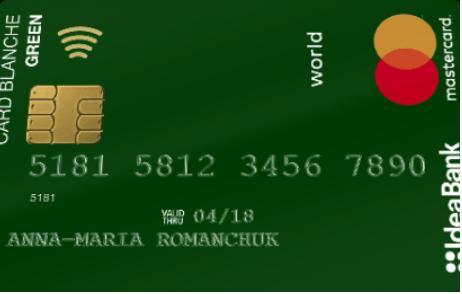 Card Blanche Debit «Green Social» от Идея Банка