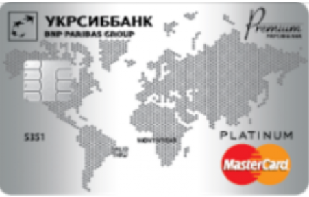 Кредитная карта Platinum от Укрсиббанка